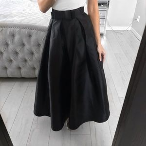 1bbb0c36c7 Chicwish Skirts | Bowknot Pleated Full Maxi Skirt In Black | Poshmark
